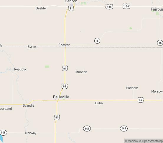 Map of Munden, KS