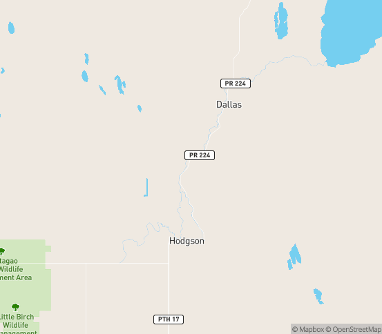 Map of Fisher River, MB