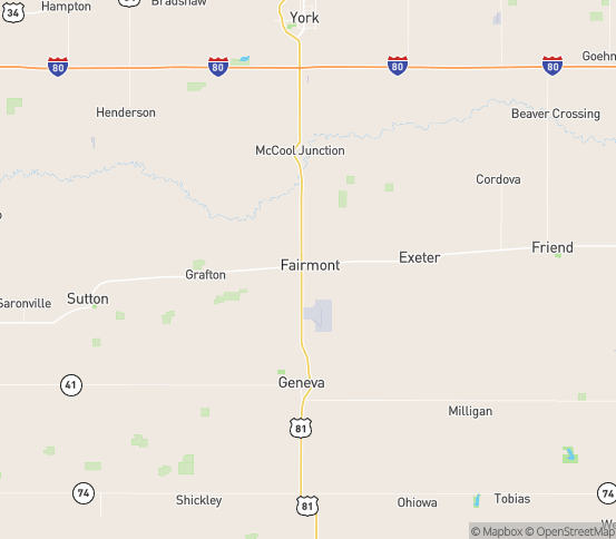 Map of Fairmont, NE