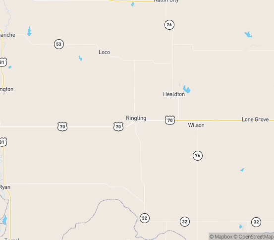 Map of Ringling, OK
