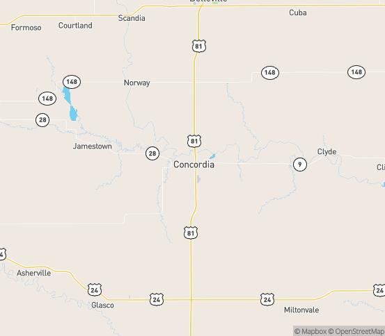 Map of Concordia, KS
