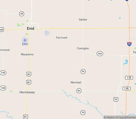 Map of Douglas, OK