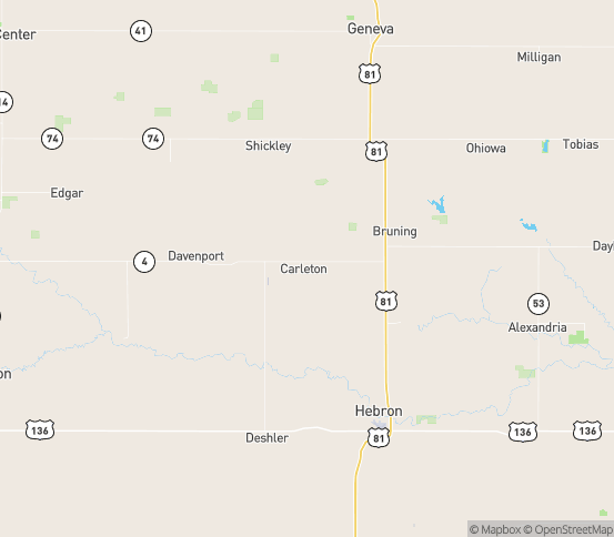 Map of Carleton, NE