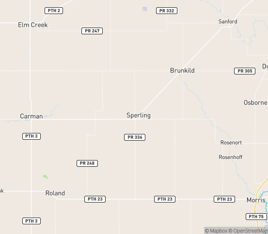 Map of Sperling, MB