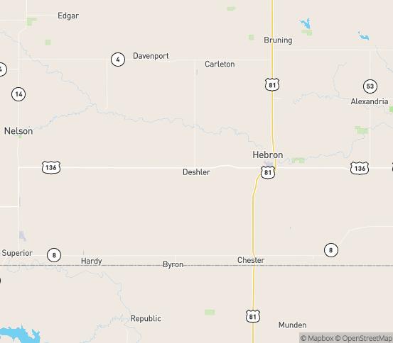 Map of Deshler, NE