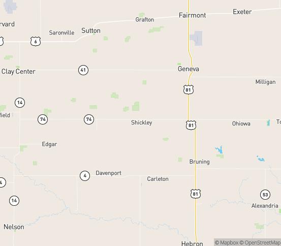 Map of Shickley, NE