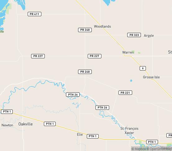 Map of Warren, MB