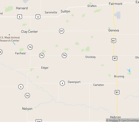 Map of Ong, NE