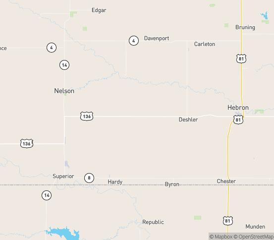 Map of Ruskin, NE