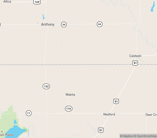 Map of Manchester, OK