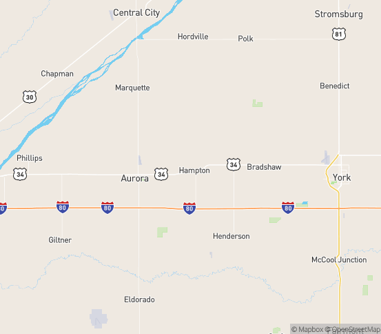 Map of Hampton, NE