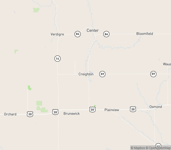Map of Creighton, NE
