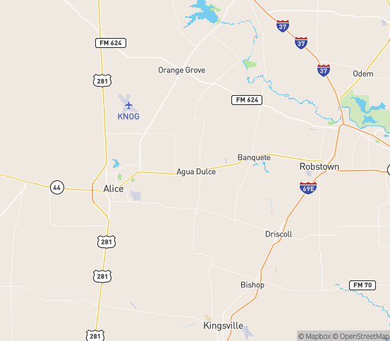 Map of Concepcion, TX