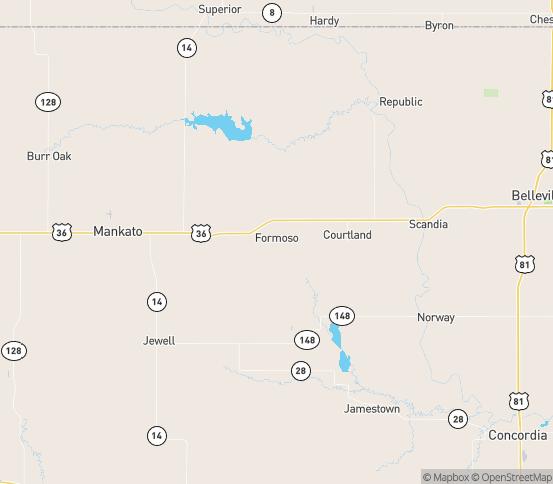 Map of Formoso, KS
