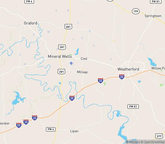 Map of Millsap, TX