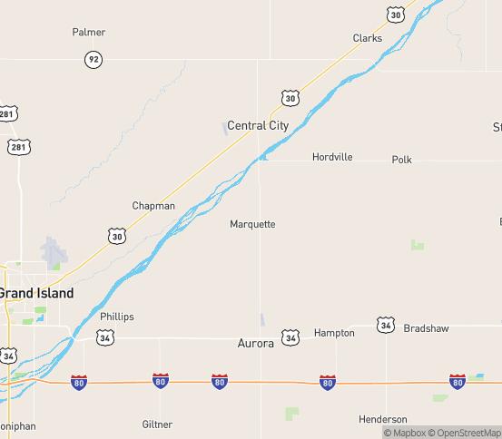 Map of Marquette, NE