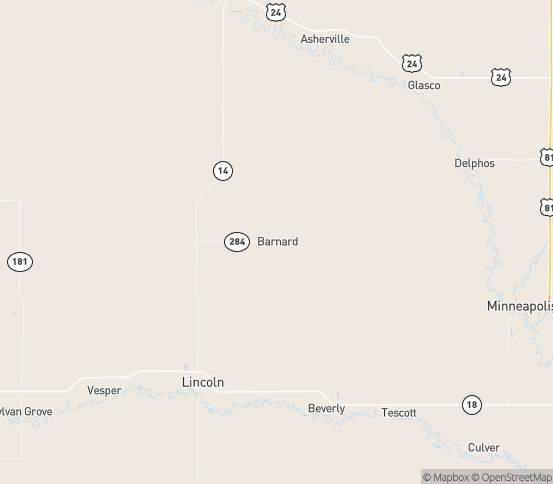 Map of Barnard, KS