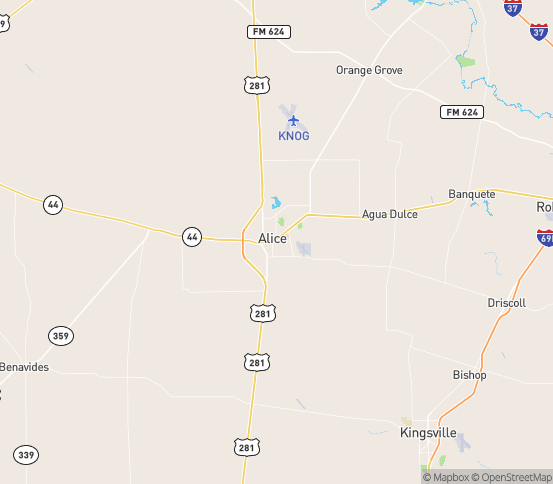 Map of Alice, TX