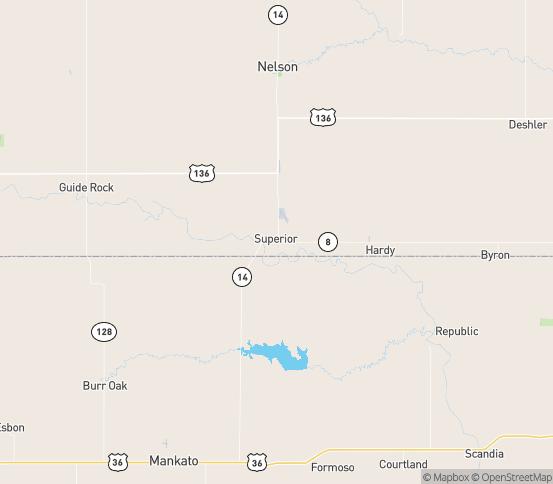 Map of Webber, KS