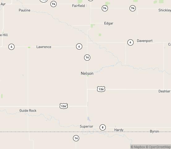 Map of Nelson, NE