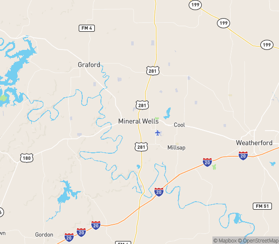 Map of Mineral Wells, TX
