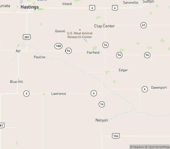 Map of Fairfield, NE