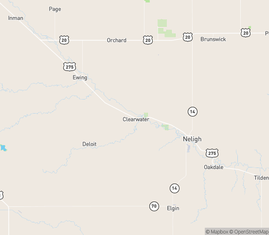 Map of Clearwater, NE