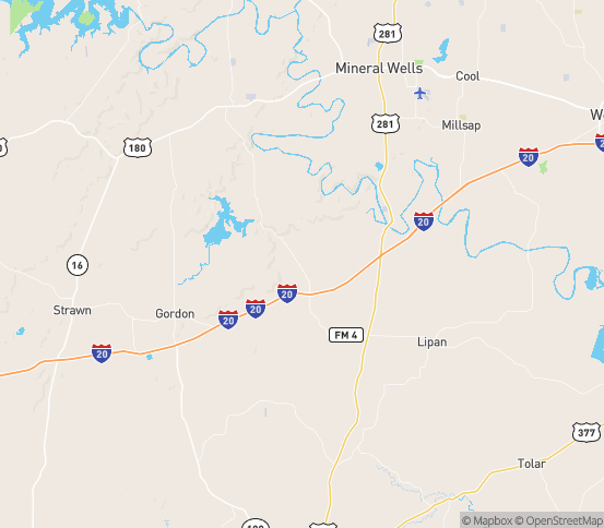 Map of Santo, TX