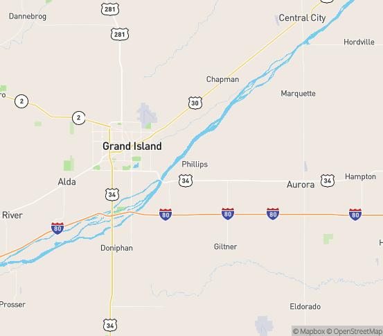 Map of Phillips, NE
