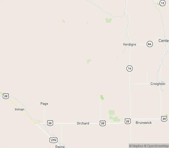 Map of Orchard, NE