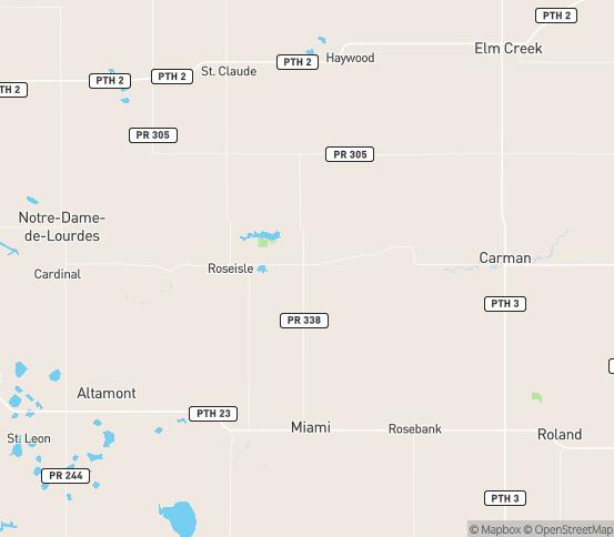 Map of Carman, MB