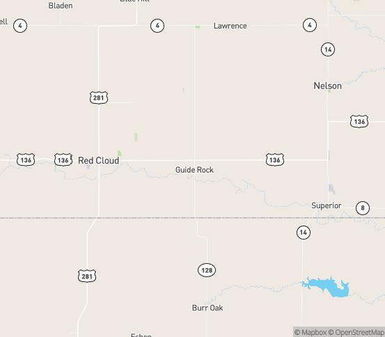 Map of Guide Rock, NE