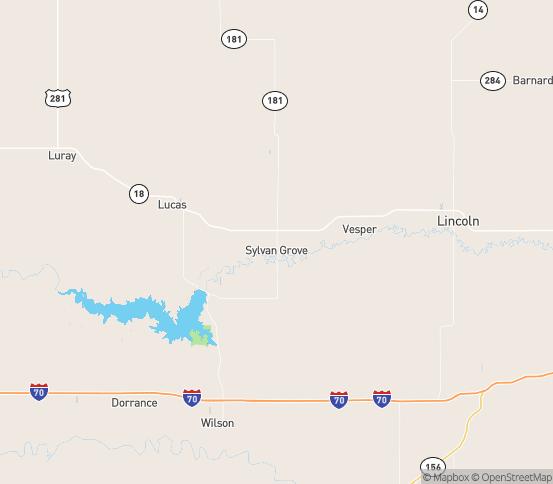 Map of Sylvan Grove, KS