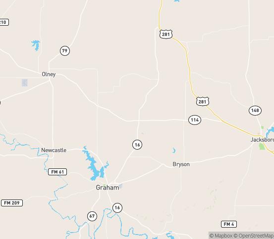 Map of Loving, TX