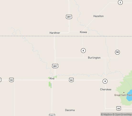 Map of Alva, OK