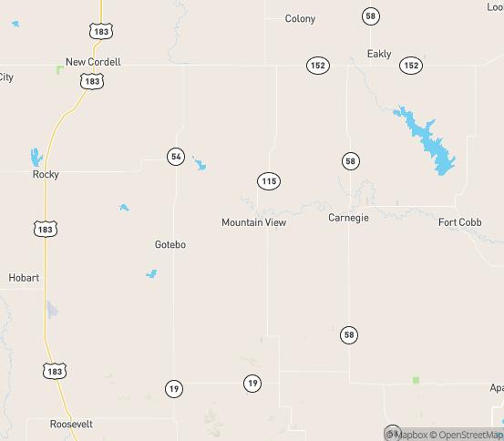 Map of Gotebo, OK