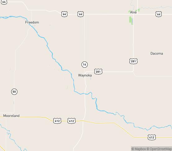 Map of Waynoka, OK