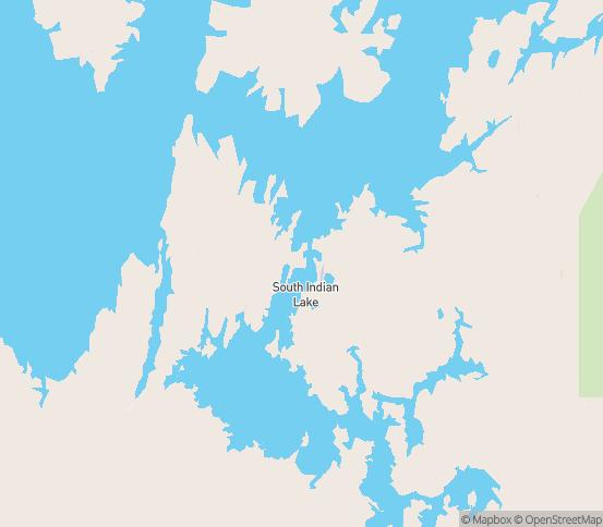 Map of South Indian Lake, MB