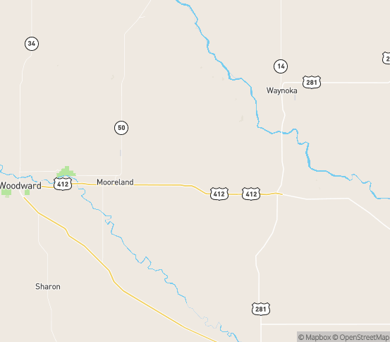 Map of Sharon, OK