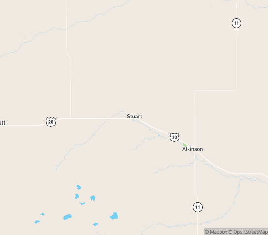 Map of Stuart, NE