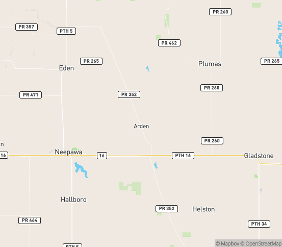 Map of Arden, MB