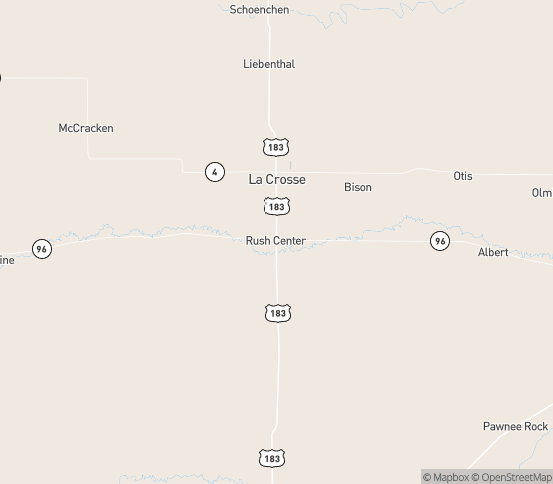 Map of Bazine, KS