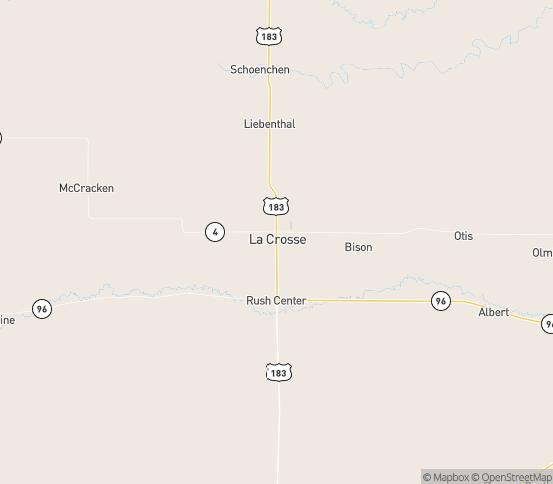 Map of La Crosse, KS