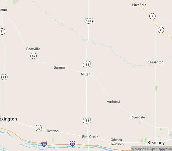 Map of Miller, NE