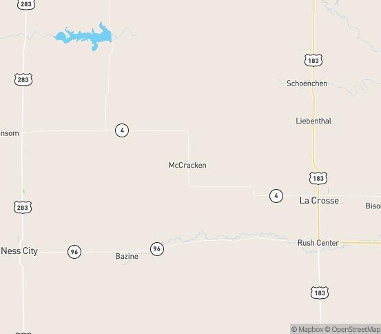 Map of Alexander, KS