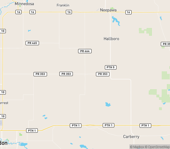 Map of Brookdale, MB