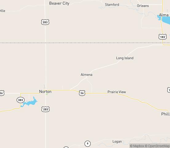 Map of Almena, KS