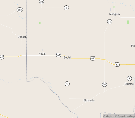 Map of Gould, OK