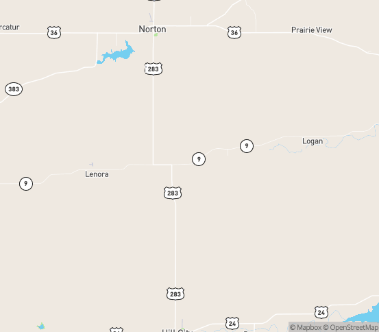 Map of Lenora, KS