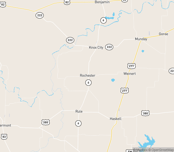 Map of Rochester, TX